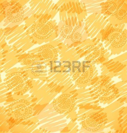 Resumen de vectores de fondo brillante Doodle incompleto sin patrón textura naranja con círculos, cuadrados y otras figuras, se puede utilizar para el diseño de papel tapiz, rellenos de patrón, páginas web, texturas de la superficie Foto de archivo