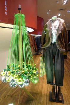 Weird hanging balls Christmas tree
