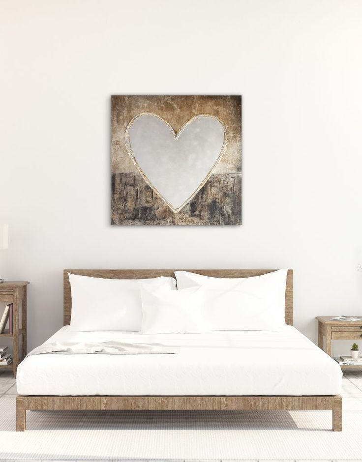 'Big Love' Aluminium and Canvas, original artwork with texture medium and silver leaf.