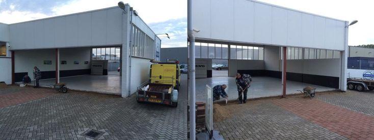 Op onze vestiging in #Zevenaar gaan de bouwvakkers voortvarend van slag met de verbouwing. Dinsdag 7 oktober 2014. Via twitter @HarrieArendsen