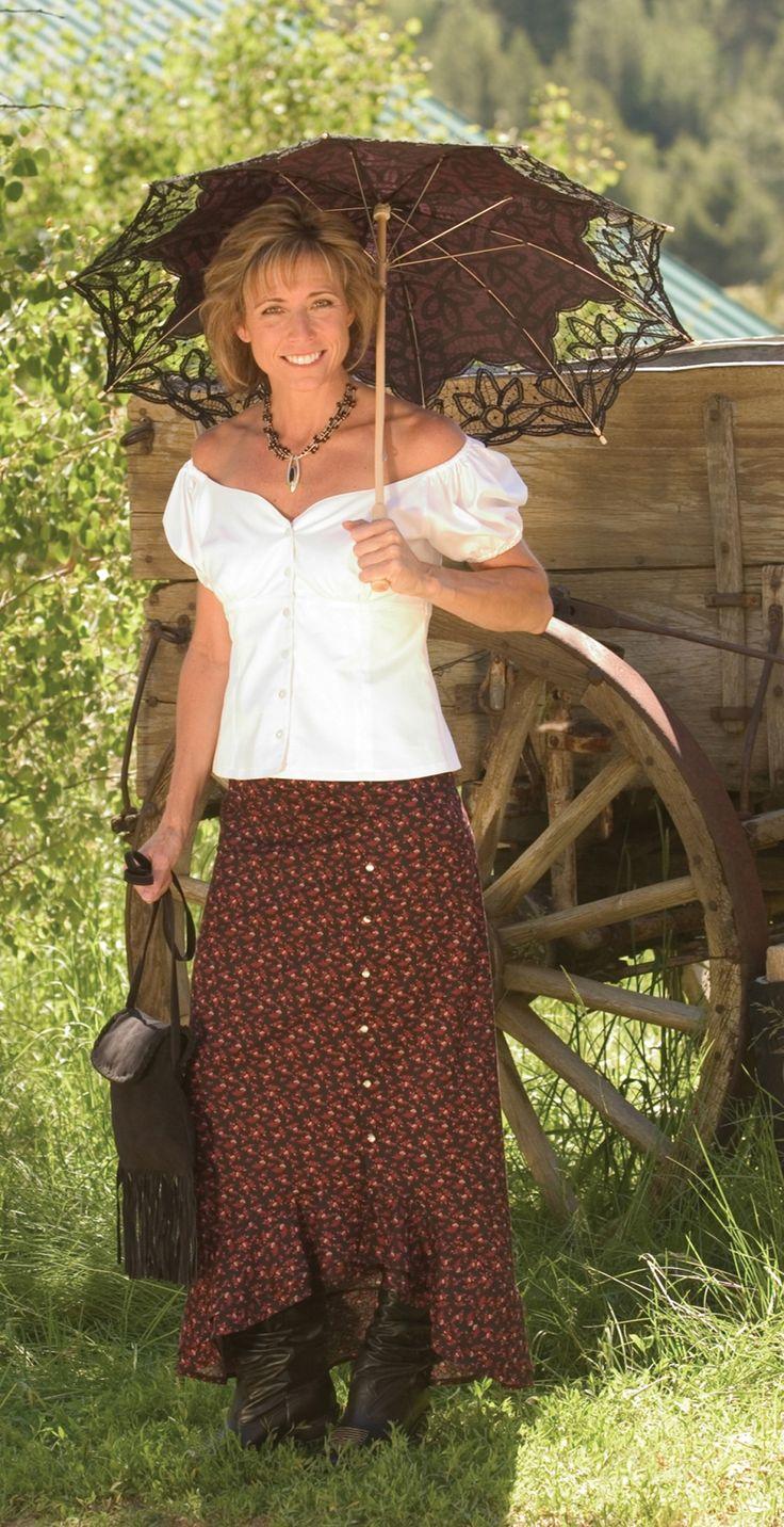 11 Best Long Western Skirts Images On Pinterest Women S