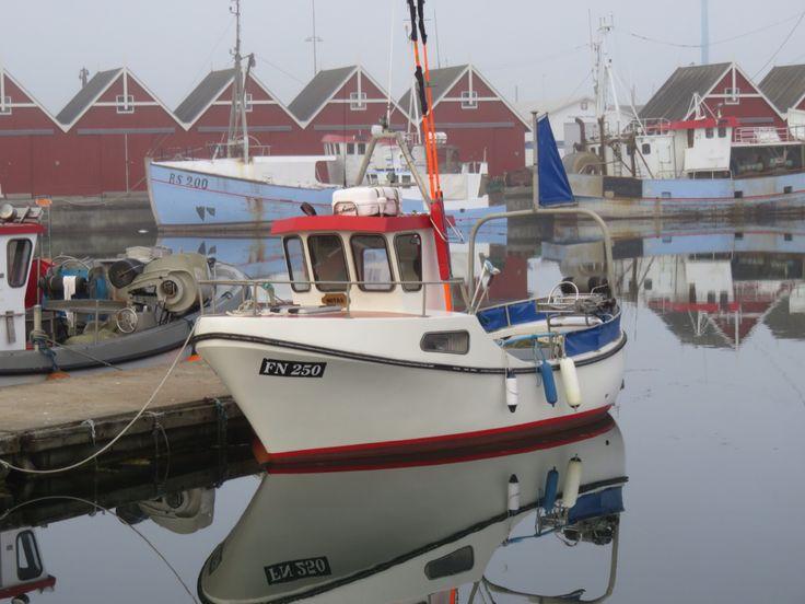 Havnen i Frederikshavn Danmark.