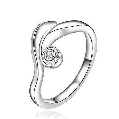 Prstýnky+Módní+Svatební+/+Párty+/+Denní+/+Ležérní+Šperky+Postříbřené+Dámské+Široké+prsteny+1ks,8+Stříbrná+–+CZK+Kč+3+281