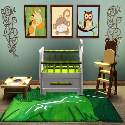 Zoo Babies Wall Art by Population_TS3 at BTB Sims - Sims 3 Finds
