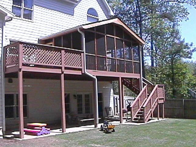 Second floor deck stairs we use quality marterial on for Second floor deck
