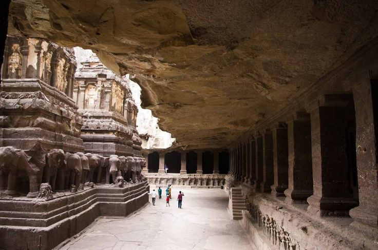 The enigmatic Kailasa Temple at the Ellora Caves in Maharashtra, India