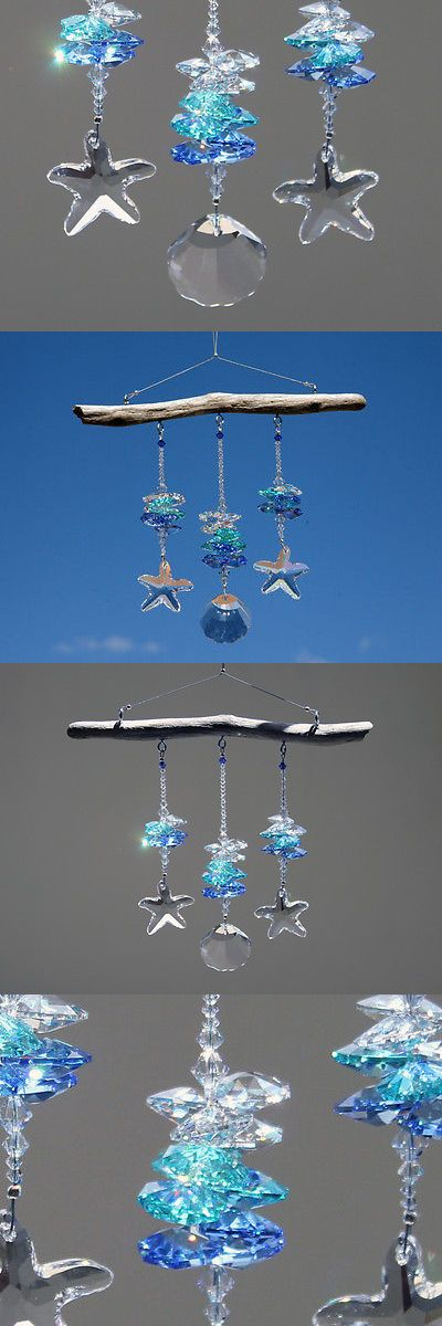 Suncatchers and Mobiles 20578: Seashore Crystal Suncatcher, 3 Strands Of Swarovski Crystal Octagons And Prisms -> BUY IT NOW ONLY: $65 on eBay!