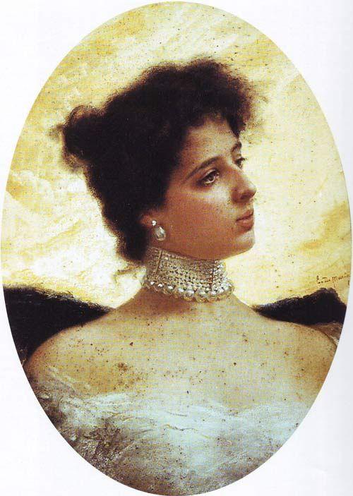 Donna Franca Florio raffigurata da E.M. Bergler