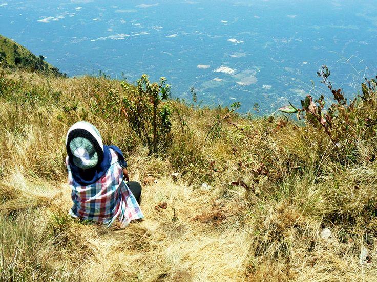 Look down. Mt. Merbabu 3142 mAsl, Jawa Tengah, Indonesia