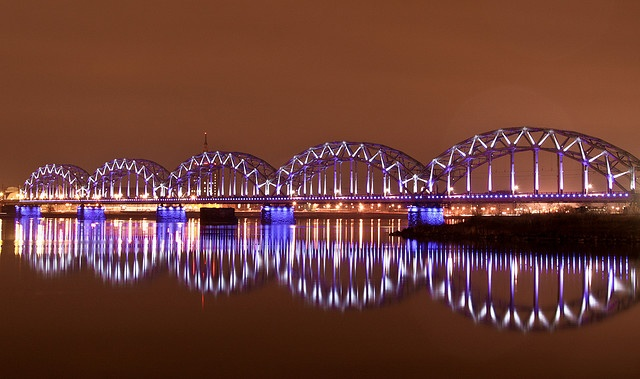 Railway bridge in Riga