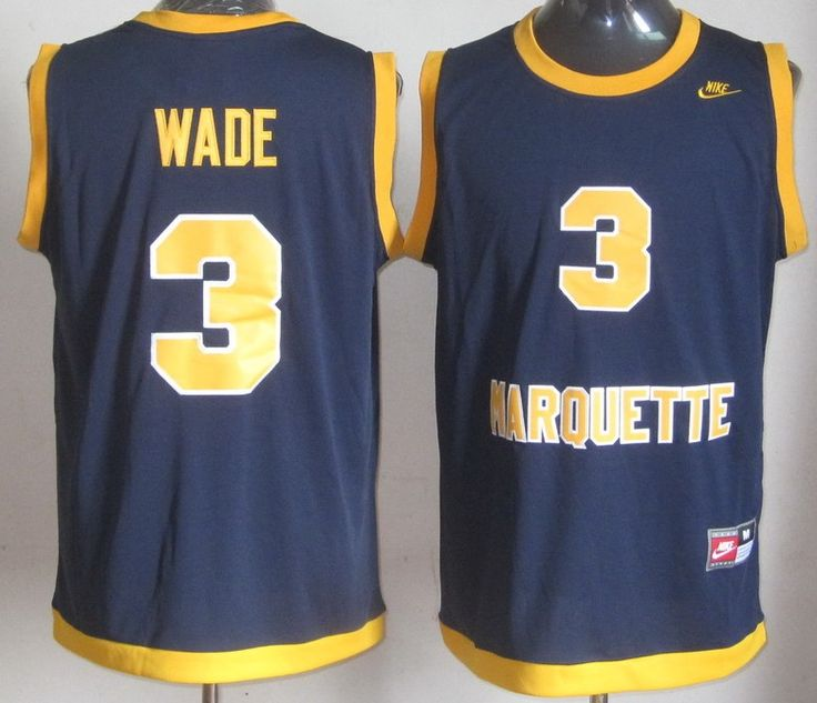 NCAA Marquette Golden Eagles 3 Dwyane Wade College Basketball Jersey $21.99