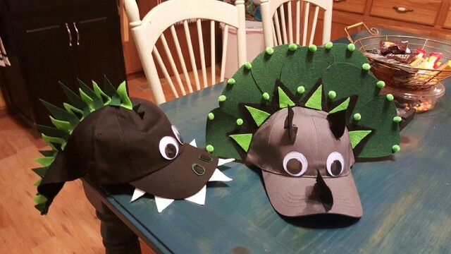 I made the boy's Crazy Hat Day hat's! They turned out great!