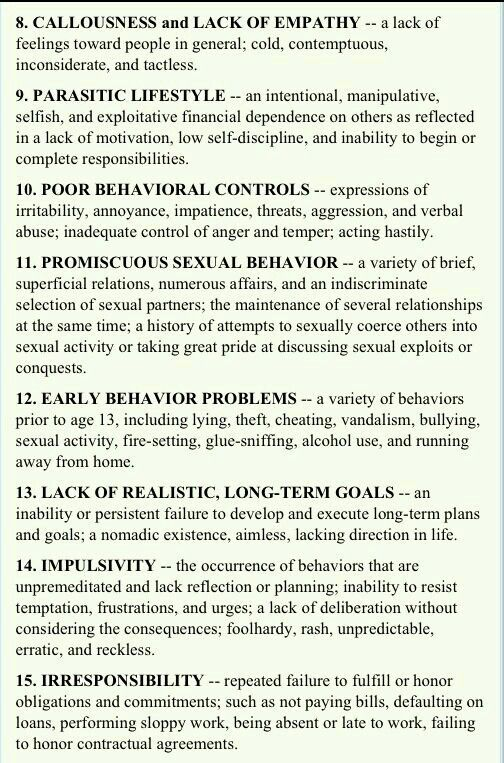 socipathis behavior Sociopathic personality disorder is a chronic mental illness that varies in  i have been researching sociopathic behavior and the sociopathic mind for 9 years.