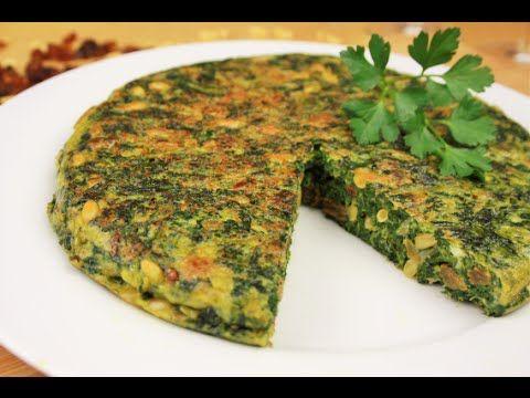 Tortilla de Espinacas - Receta Tortilla de espinacas vegana y rica en antioxidantes - YouTube