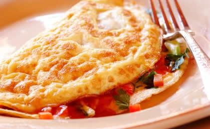 Cheesy Mexican Omelette