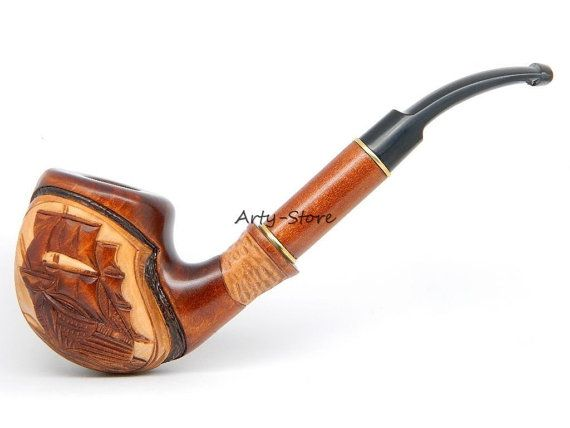 Long Wooden Tobacco Smoking pipe  Flying Dutchman by ArtyStore
