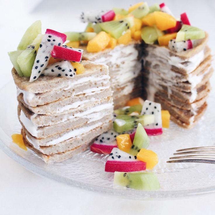 Fluffy Pancakes (8 pancakes)   vegan, LF, GF