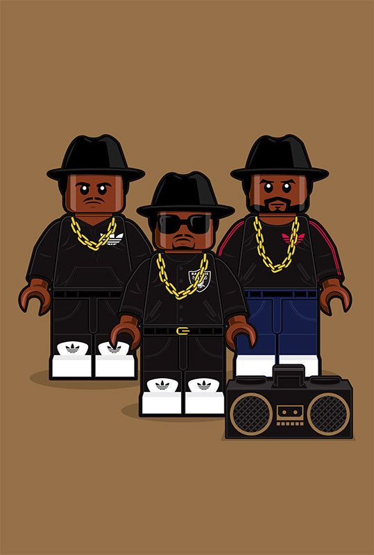 """LEGO Run-DMC"" Large by Dan Shearn"