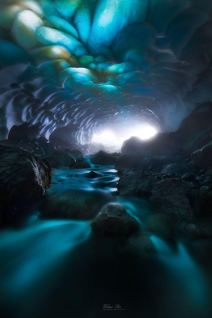 Snow Cave Mount Rainier - Pierce County - Washington - USA - by Weihao Pan