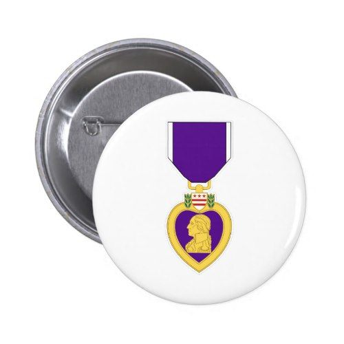 Purple Heart Medal Pinback Button