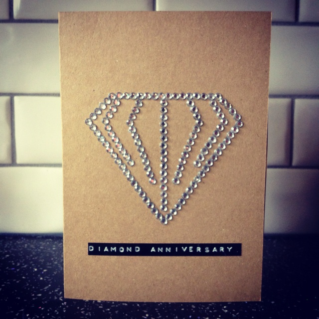 60th wedding anniversary. 2012.  diamanté - @johnlewis stationary - @paperchase label - @dymo idea - @rosie_tinted
