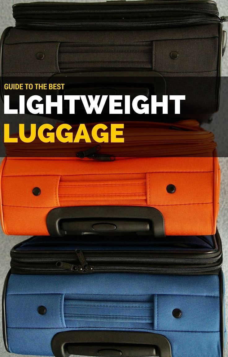 Our guide to the best lightweight luggage options complete with luggage reviews.  http://www.wheressharon.com/reviews/best-lightweight-luggage-reviews/