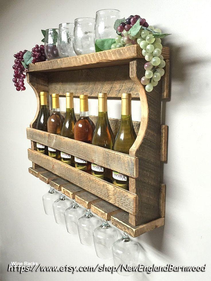 14 Diy Wine Racks Made Of Wood Weinregal Wand Rustikale