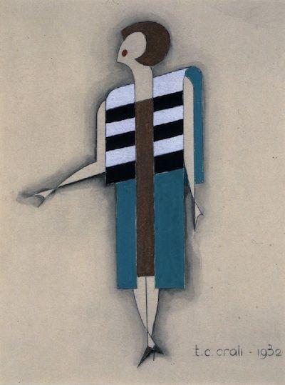 """Tullio Crali – """"Dress that goes up"""" (1932)"""