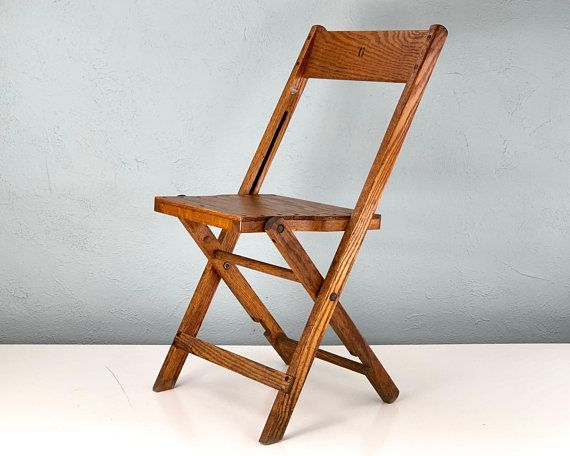 Vintage Wood Folding Chairs, Wooden Chair, Mid Century Chair, Antique Wood  Chair, Pittsburgh Volunteer Fire Department Collectible - Vintage Wood Folding Chairs, Wooden Chair, Mid Century Chair