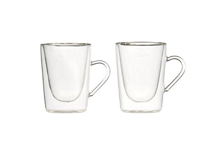 Luigi Bormioli 1440 - Taza de café y té (295 ml, doble pared, cristal de borosilicato, 2 unidades): Amazon.es: Hogar