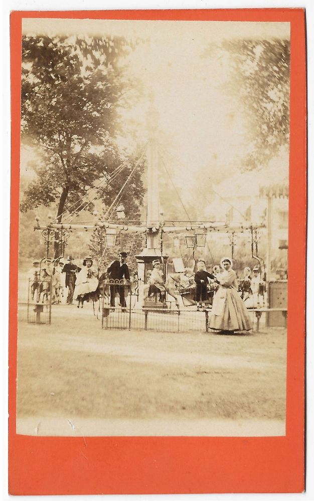 Details about Very RARE 1860's Civil War Era CDV Carousel ...