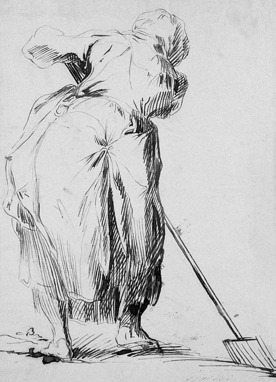 Woman with a Spade - Jacques Bellange, Early 17th century