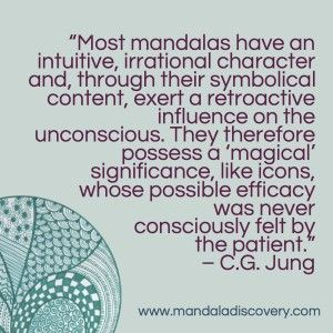 This is why creating a mandala is often part of art therapy. It enables some people to access their unconscious and connect with their source. Finding a creative outlet to give expression and meaning to our experiences however dark, painful or unpleasant, can be healing, and a source of personal growth.