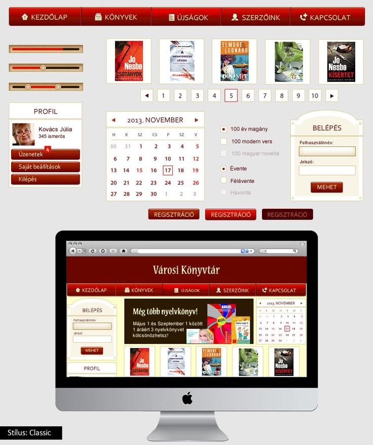 Classic UI Kit - bemutató készlet. A tutorial megvásárolható május 9-től a magui.hu oldalon.