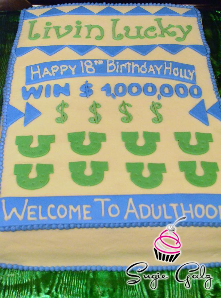 Scratch Off Lottery Ticket Birthday Cake In Austin Texas