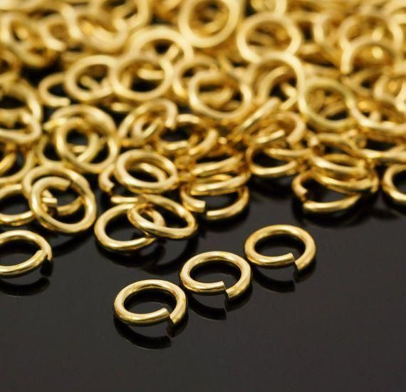 22 24 and Diameter 18 12 Your Choice of Gauge 10 20 16 100 Handmade Rich Low Brass Jump Rings 14