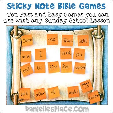 Sticky Note Bible Verse Review Games from www.daniellesplace.com - Copyright 2014
