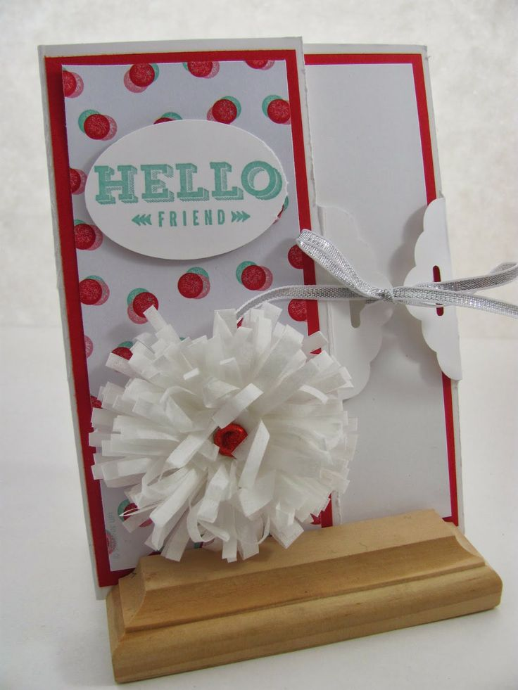 Card Making Ideas Using Punches Part - 26: Scalloped Tag Topper Punch Card By Jamie Hurley