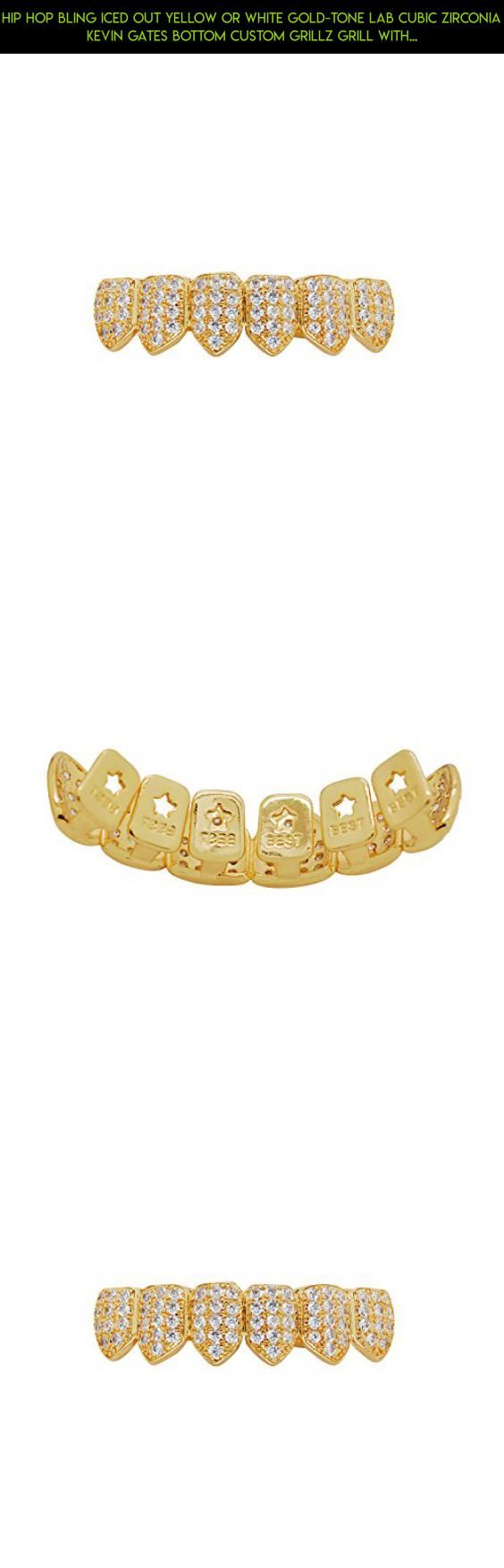 Hip Hop Bling Iced Out Yellow or White Gold-Tone Lab Cubic Zirconia Kevin Gates Bottom Custom Grillz Grill with Mold Bar (Yellow-Gold-Tone) #technology #gadgets #kit #out #drone #shopping #fpv #parts #tech #iced #racing #grills #products #camera #plans