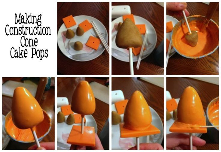 Pint Sized Baker: Construction Cone Cake Pops
