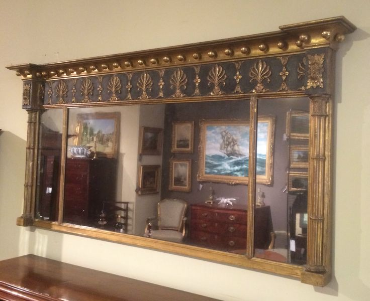 Fabulous Regency Overmantel Mirror NOW SOLD! see http://www.domani-devon.com/stock/mirrors/regency-giltwood-overmantel-mirror for more photos and details