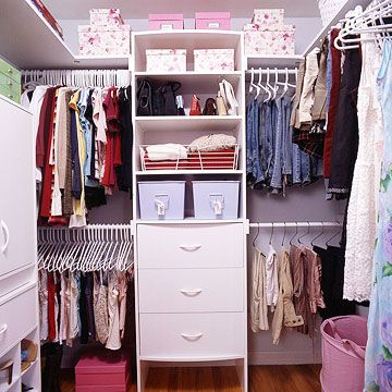 Like my kid has the walk-in closet that I never had...still, a good starting point for closet organization!