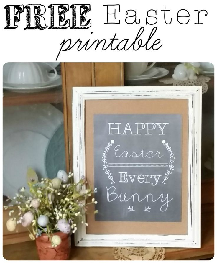 "Grab your very own FREE ""Happy Easter Every Bunny"" Printable to adorn your Easter decorating! 