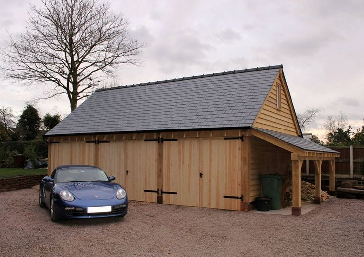 8 best 3 bay garages cheshire oak structures images on for Three bay garage