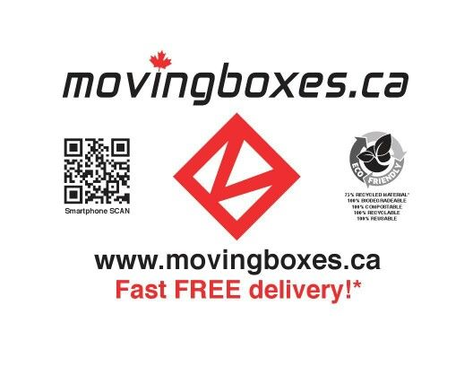 All our moving boxes are Canadian made, right here in Ottawa! Proudly Canadian company since 2005. Learn more www.movingboxes.ca 613-822-6900