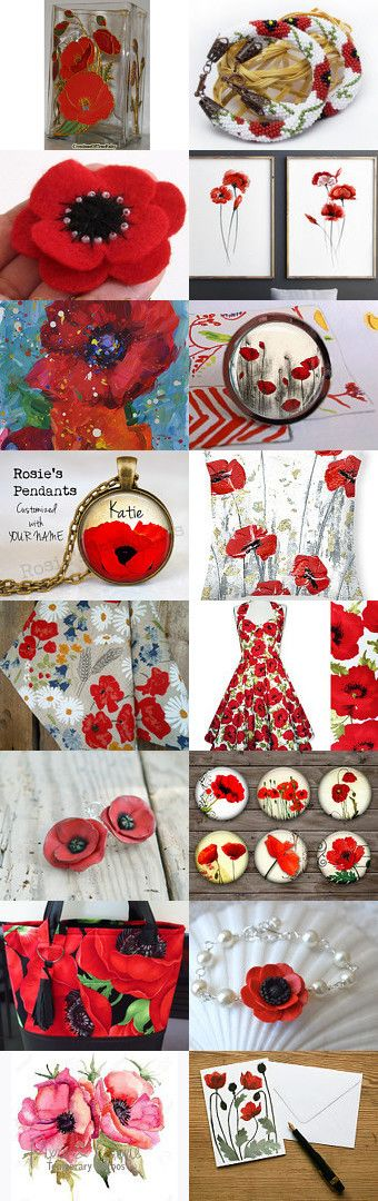 *** Poppy - Papavero *** by Miss Style on Etsy--Pinned+with+TreasuryPin.com