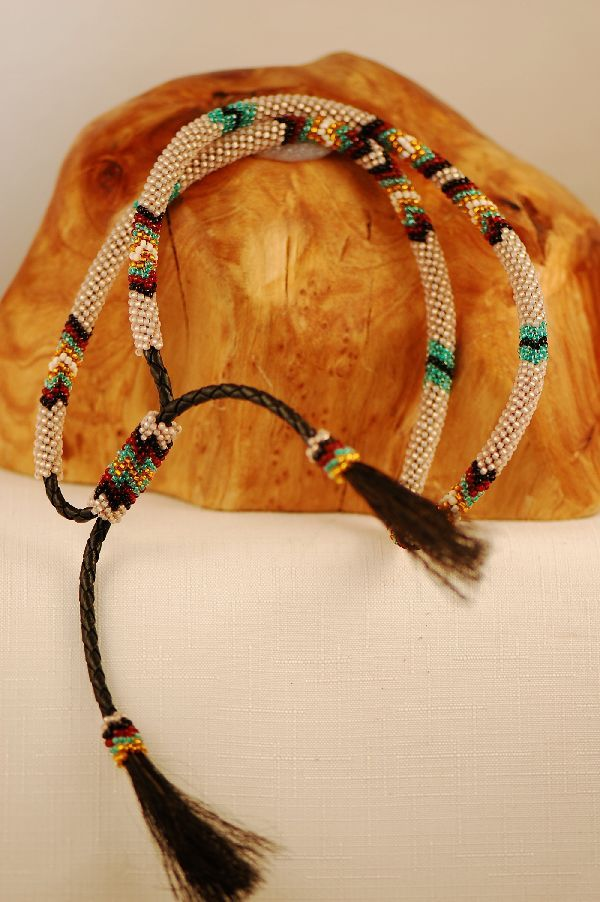 beaded horse taxonomy knotatail hat term l horsehair hatband seed band bead western cowboy bands hair bone