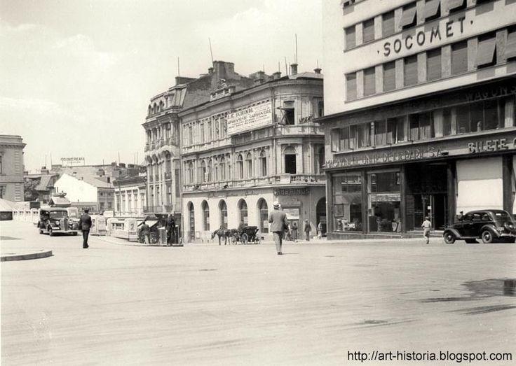 Piața Teatrului Național. Beraria Gambrinus
