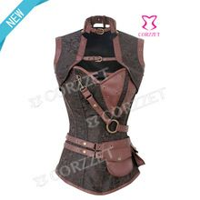 2014 high quality waist cincher leather steampunk corset Best Seller follow this link http://shopingayo.space