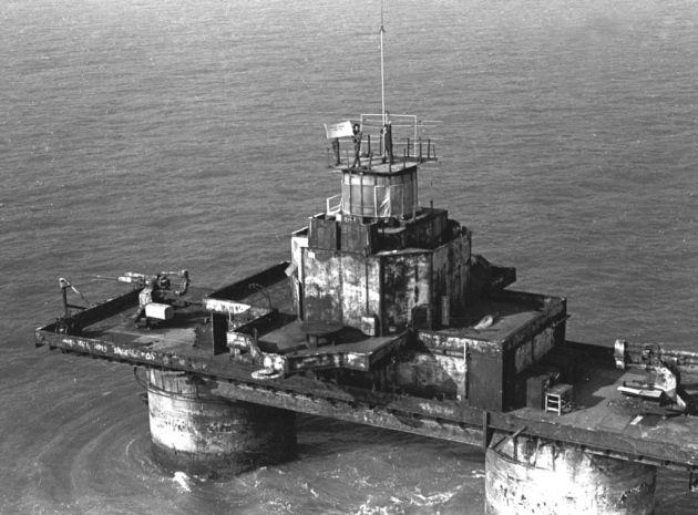 Sunk Head fort: Tower radio 1965